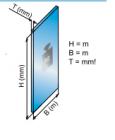 Kalkulacja wagi szkła