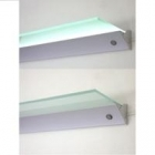 Półka z aluminiową listwą LED