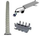 Prowadzenia kabli - kręgosłupów do kabli